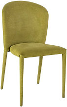 Chaise tissu vert et pieds métal vert Coucou