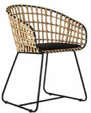 Chaise Tokyo / Rotin & métal - Pols Potten beige