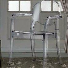 Chaise transparente avec accoudoirs ASSIA (lot de