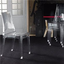 Chaise transparente empilable design ADELAIDE (lot