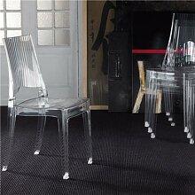 Chaise transparente empilable design TALINA (lot