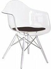 Chaise transparente lignes épurées - brigitte