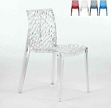 Chaise transparente salle à manger Café