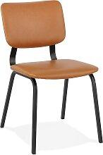 Chaise vintage 'MELODY' brune avec