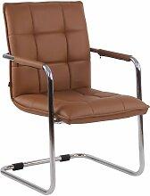 Chaise visiteur fauteuil de bureau sans roulettes