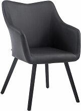 Chaise visiteur McCoy V2 similicuir noir Noir