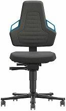 Chaises bureau 2 Roue K-CuirP gnée bleu - OI