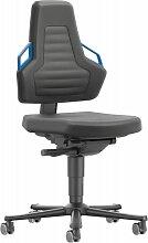 Chaises bureau 2 Roue Supertec P gnée bleu - OI