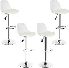 Chaises de Bar modernes en PP blanc, tabouret de