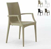 Chaises de jardin fauteuil accoudoirs bar café