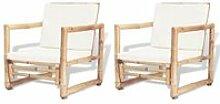 Chaises de jardin Lot de 2 Chaisses de jardin