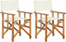 Chaises de metteur en scène 2 pcs Bois massif
