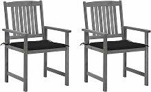 Chaises de metteur en scène avec coussins 2 pcs