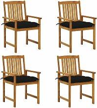 Chaises de metteur en scène avec coussins 4 pcs
