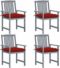Chaises de metteur en scene avec coussins 4 pcs