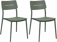 Chaises jardin en aluminium Chic (Lot de 2) Amande