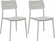 Chaises jardin en aluminium Chic (Lot de 2) Blanc