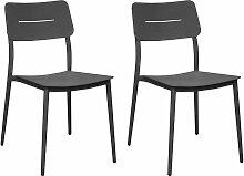 Chaises jardin en aluminium Chic (Lot de 2)