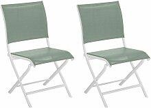 Chaises pliante jardin en aluminium Elegance (Lot