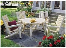 Chalet&jardin - Table ronde parasol en cèdre