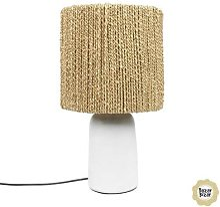 CHALKI-Lampe à poser Fibres Naturelles H45cm