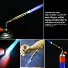 Chalumeau en acier inoxydable, torche à gaz,