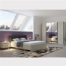 Chambre à coucher complète moderne couleur bois