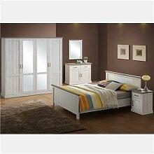 Chambre à coucher couleur chêne clair et marron