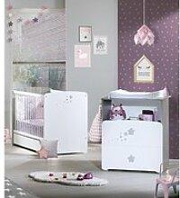 Chambre bébé duo lit  120x60 et commode 2