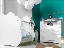 Chambre bébé lit Altéa 60x120 cm et commode à