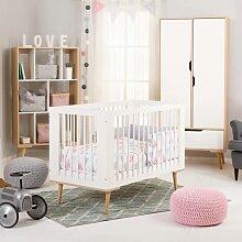 Chambre bébé scandinave Sofie MDF et hêtre