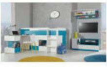 Chambre enfant MOBI avec Lit combiné & bureau -