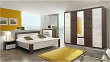 Chambre LENA Wengé 160*200 cm - Gris