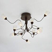 Chandelier enchevêtré LED design - Domi - Rouille