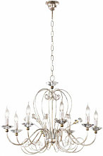 Chandelier ROSSANA Champagne/Or 8 ampoules