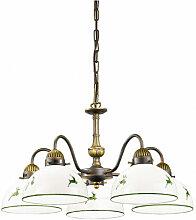 Chandelier style classique NONNA laiton antique 5