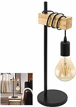 Chao Zan Lampe de bureau en bois et métal noir,