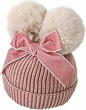 Chapeau d'hiver Puériculture Double Pompon