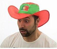 Chapeau pliant à logo drapeau portugais -
