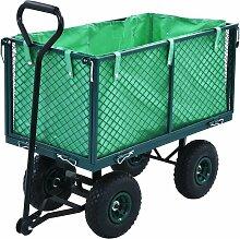 Chariot a main de jardin Vert 350 kg