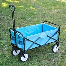 Chariot de Jardin à roulettes Turquoise - Chariot