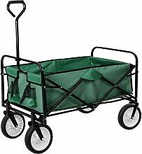 Chariot de jardin pliable 80 kg outils jardinage