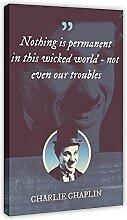 Charlie Chaplin Poster classique avec citations de