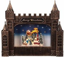 Château Noël verre Père Noël avec traîneau