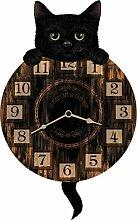Chaton tickin, chat horloge marron - Fantaisie -
