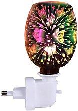 Chauffe-huile électrique Effet 3d Papillon En