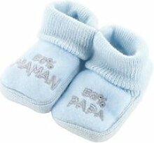Chaussons pour bébé 0 à 3 mois bleu - 50 maman