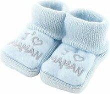 Chaussons pour bébé 0 à 3 mois bleu -