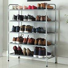 Chaussures racks étagères Cinq couches de tuyaux