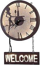 chazuohuaile Co.,ltd Horloge Murale Rétro